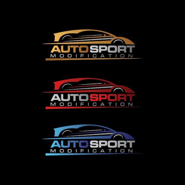 Logotipo auto sport car Vetor Premium