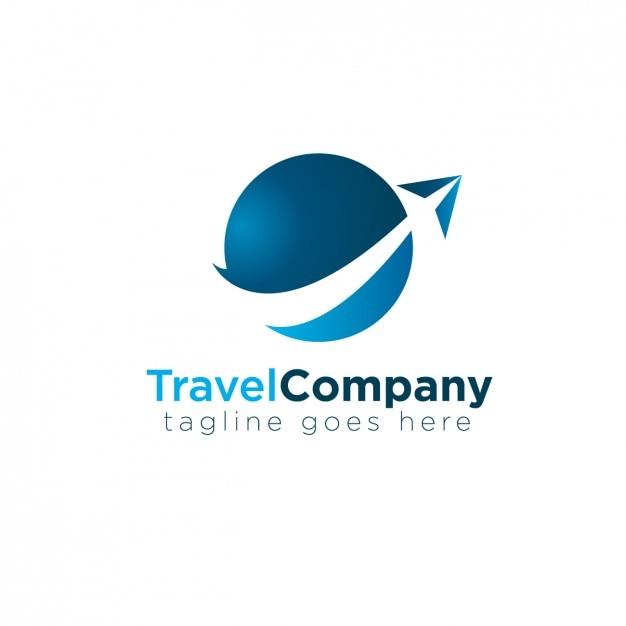 Logotipo azul abstrato circular Vetor grátis