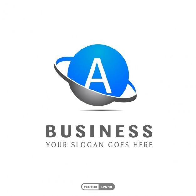 Logotipo azul empresa Vetor grátis