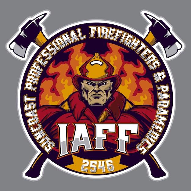 Logotipo bombeiro Vetor Premium