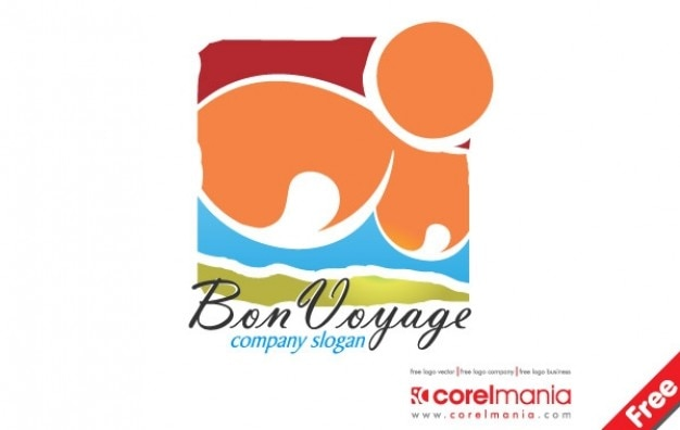 Logotipo bon voyage Vetor grátis