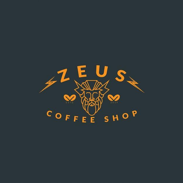 Logotipo café vintage Vetor Premium