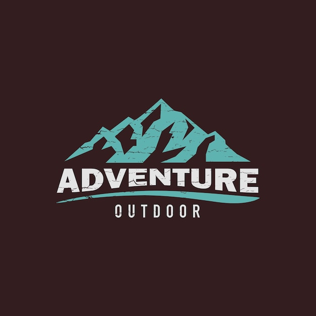 Logotipo criativo de montanha Vetor Premium
