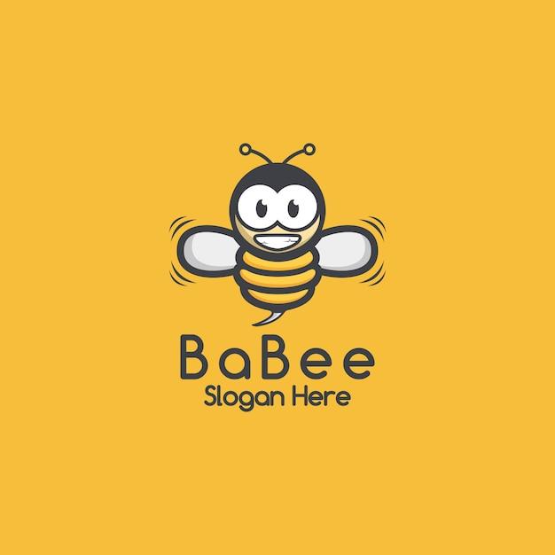 Logotipo da abelha Vetor Premium