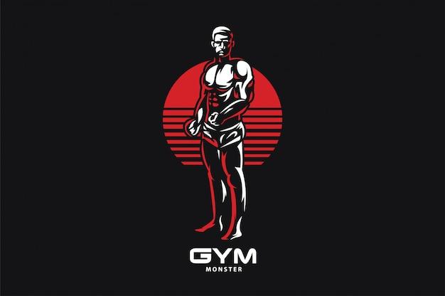 Logotipo da academia de ginástica Vetor Premium