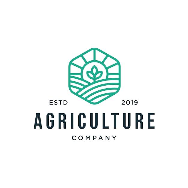 Logotipo da agricultura Vetor Premium