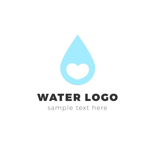 Logotipo da água Vetor grátis
