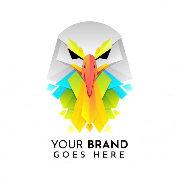 Logotipo da águia Vetor Premium