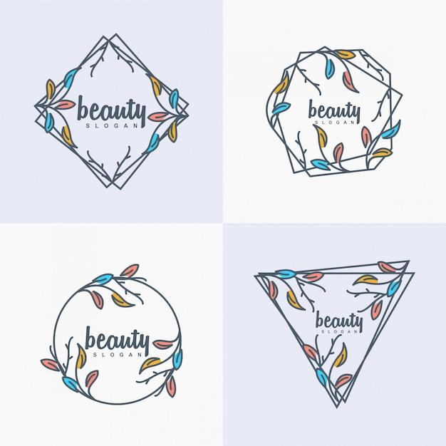 Logotipo da beleza Vetor Premium