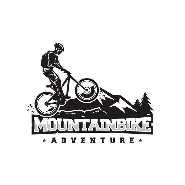 Logotipo da bicicleta de montanha Vetor Premium