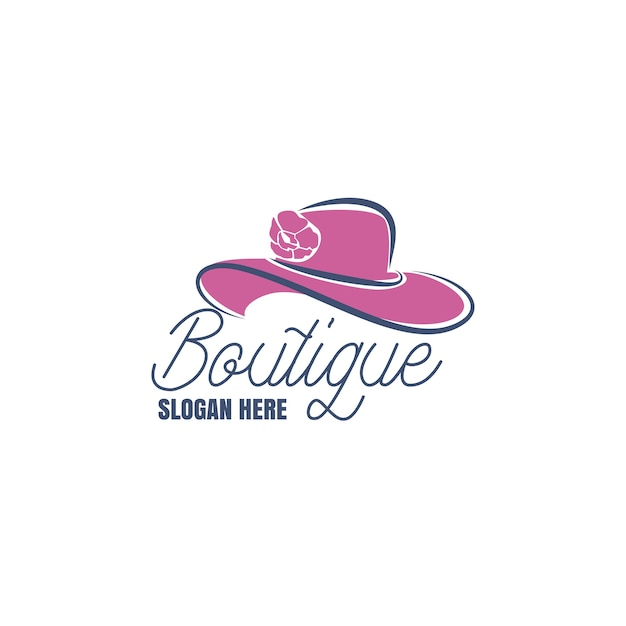 Logotipo da boutique de moda Vetor Premium