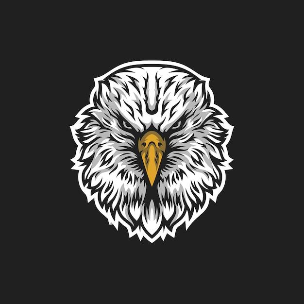 Logotipo da cabeça de águia Vetor Premium