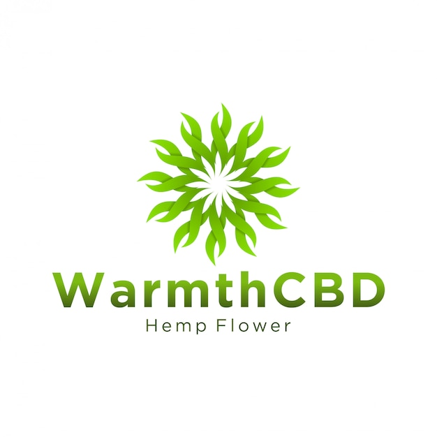 Logotipo da cbd para uso legal e médico Vetor Premium