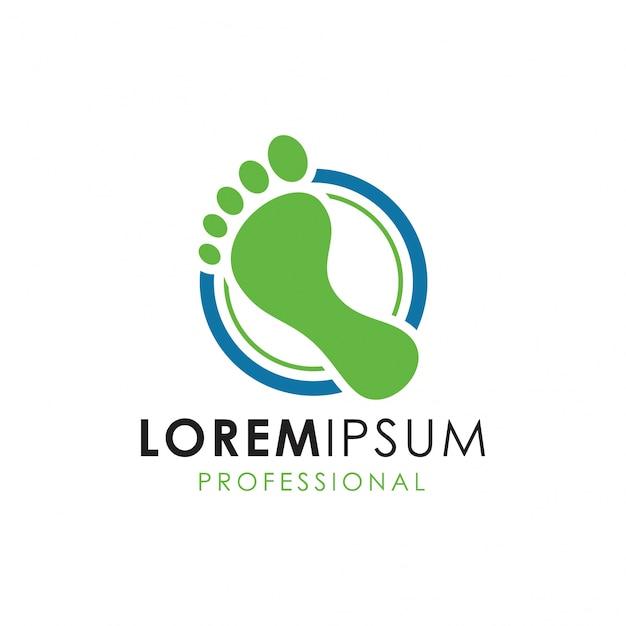 Logotipo da clínica de pé Vetor Premium