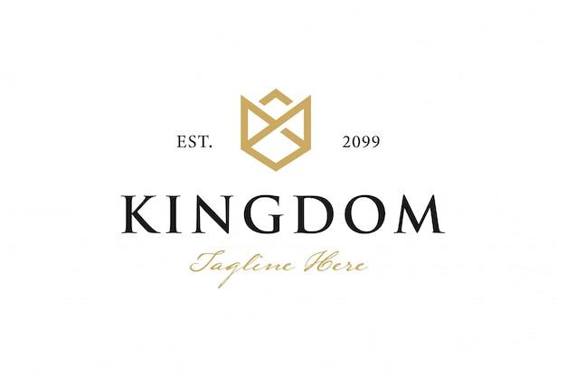 Logotipo da coroa vintage Vetor Premium