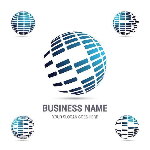 Logotipo da empresa corporativa Vetor grátis