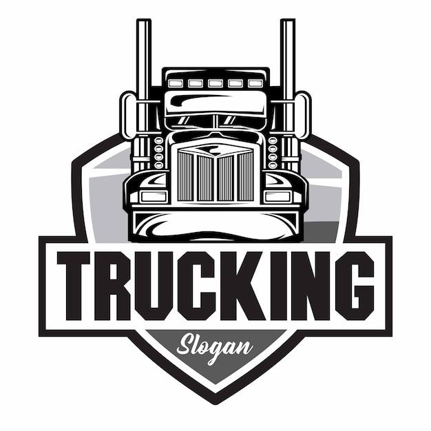 Logotipo da empresa de caminhões Vetor Premium