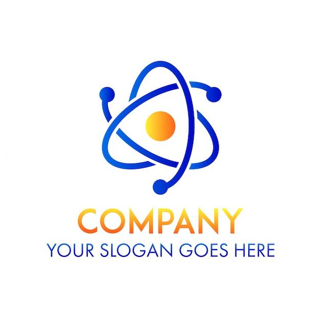 Logotipo da empresa de ciência de negócios Vetor Premium
