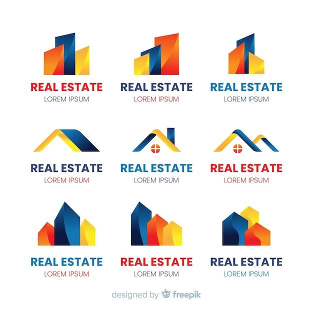 Logotipo da empresa para coleção de modelo imobiliário Vetor grátis