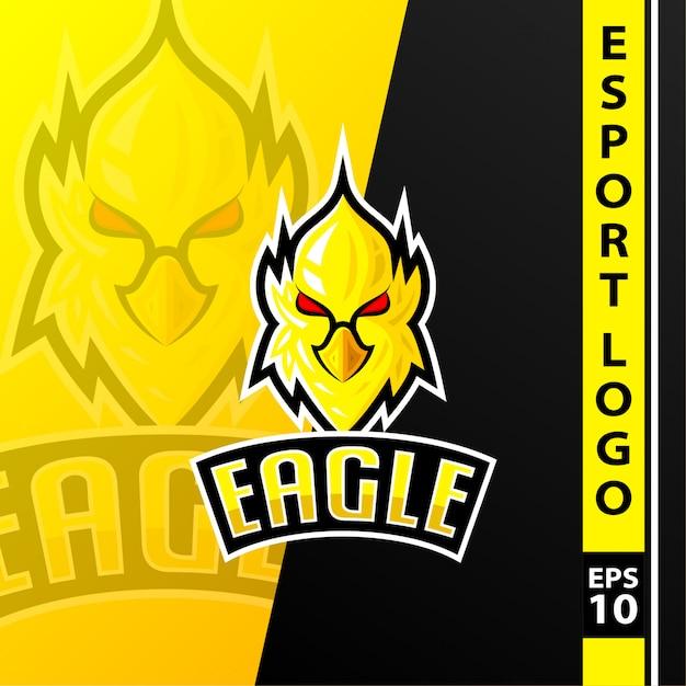Logotipo da equipe de esportes eletrônicos Vetor Premium