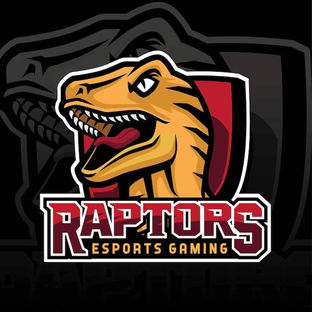 Logotipo da equipe de jogos raptor e sport Vetor Premium