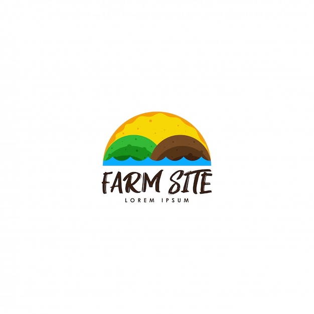 Logotipo da fazenda Vetor Premium