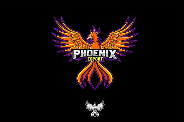 Logotipo da fênix Vetor Premium