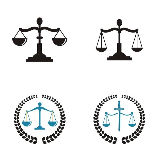Logotipo da firma de advocacia Vetor Premium