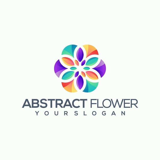Logotipo da flor Vetor Premium