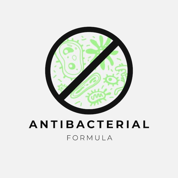 Logotipo da fórmula antibacteriana Vetor grátis