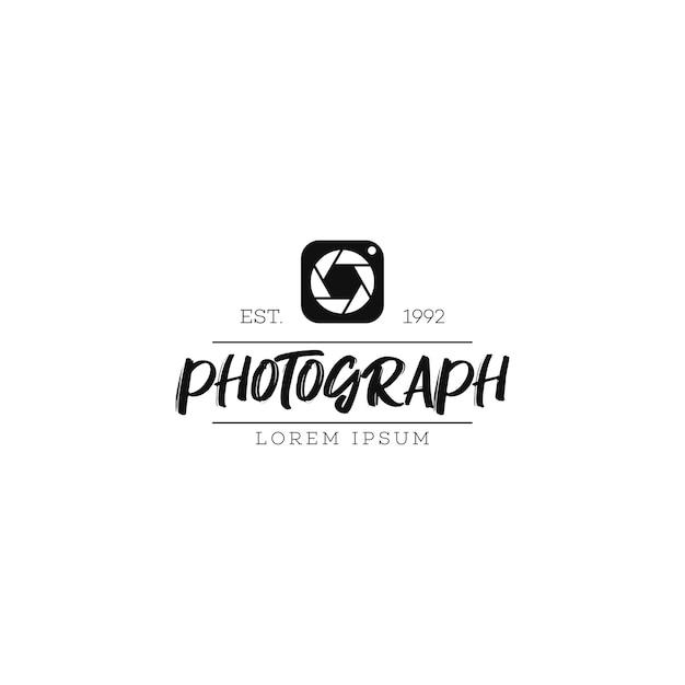 Logotipo da fotografia Vetor Premium