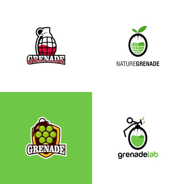 Logotipo da granada Vetor Premium