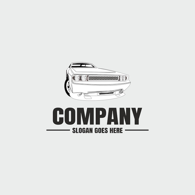 Logotipo da indústria automotiva de automóveis Vetor Premium