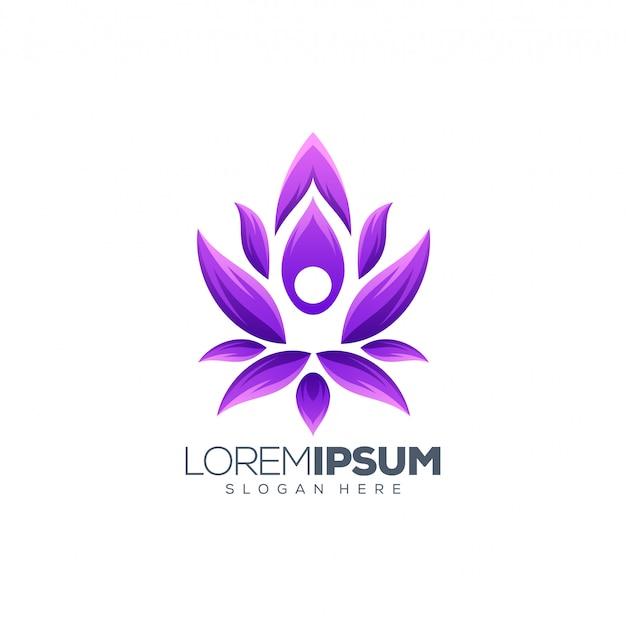 Logotipo da ioga Vetor Premium
