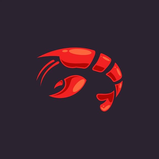 Logotipo da lagosta Vetor Premium