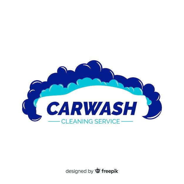 Logotipo da lavagem de carro Vetor grátis