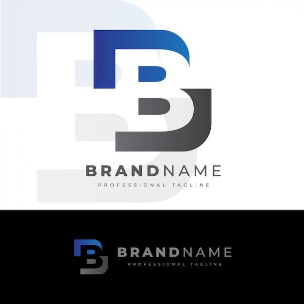 Logotipo da letra b criativa Vetor Premium