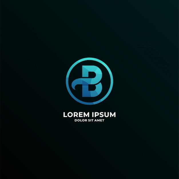 Logotipo da letra b Vetor Premium