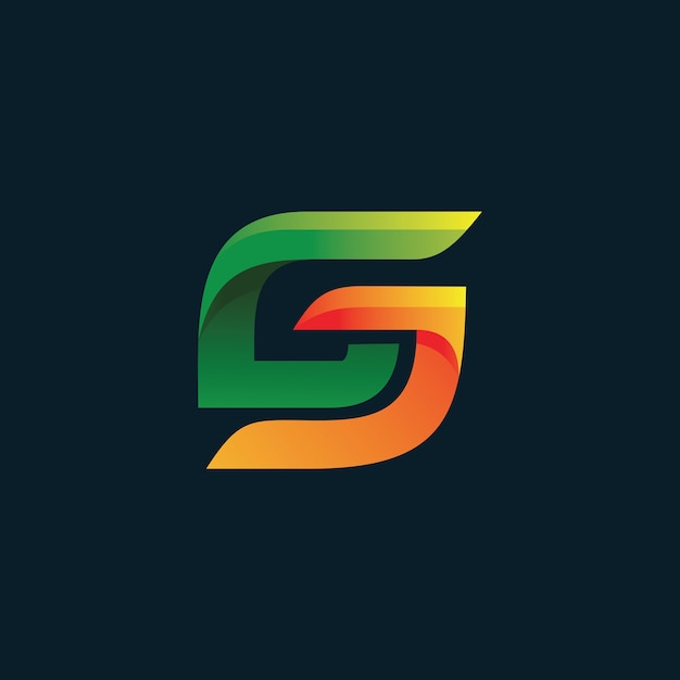 Logotipo da letra c e j Vetor Premium