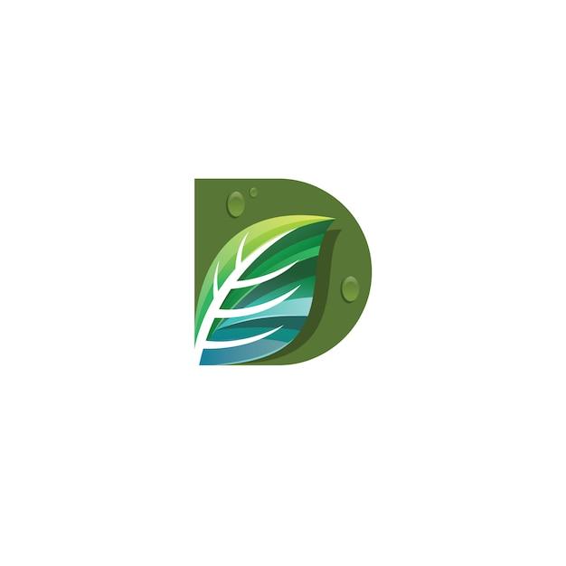 Logotipo da letra d Vetor Premium