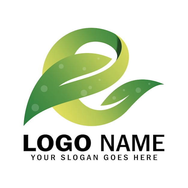 Logotipo da letra e Vetor Premium
