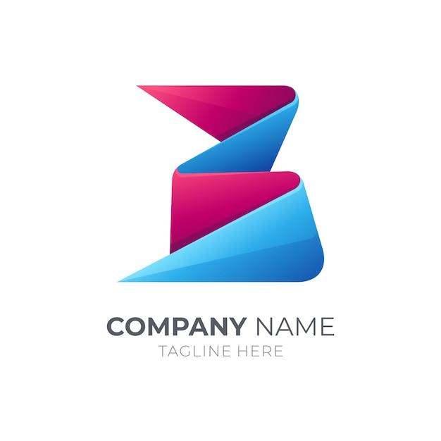 Logotipo da letra inicial b Vetor Premium