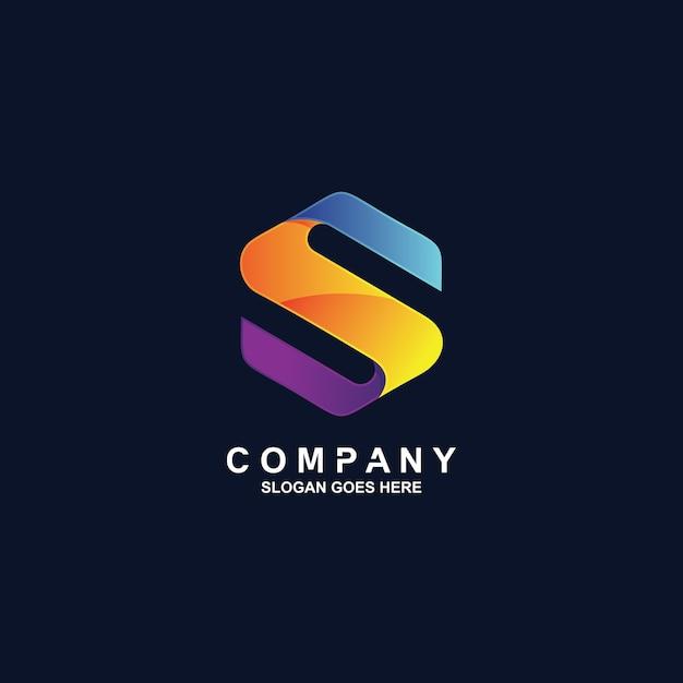 Logotipo da letra s Vetor Premium