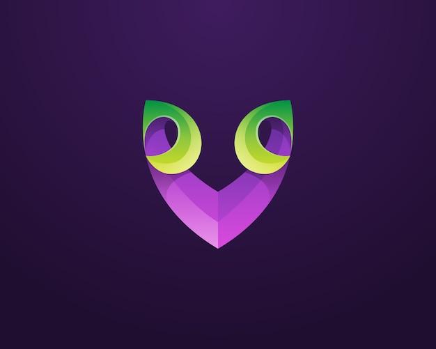 Logotipo da letra v criativa Vetor Premium