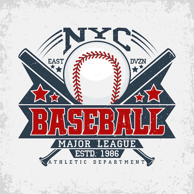 Logotipo da liga de beisebol Vetor Premium