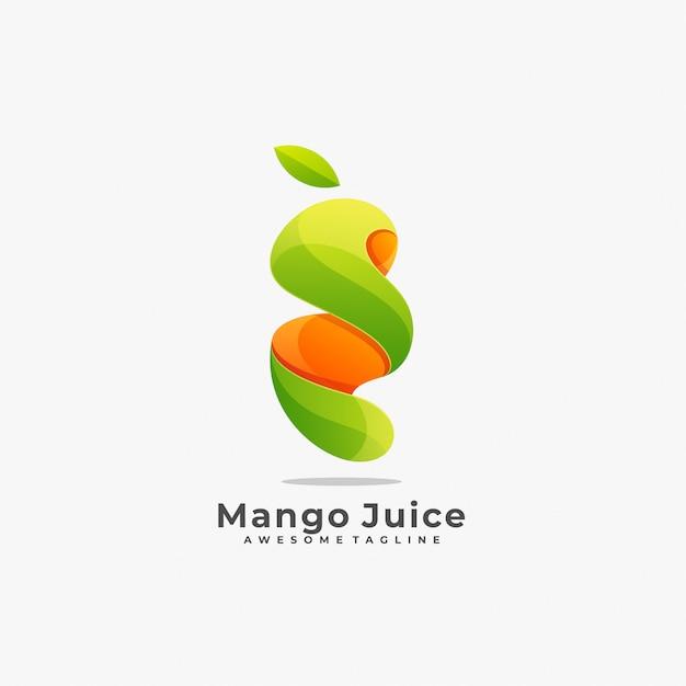 Logotipo da manga juice. Vetor Premium