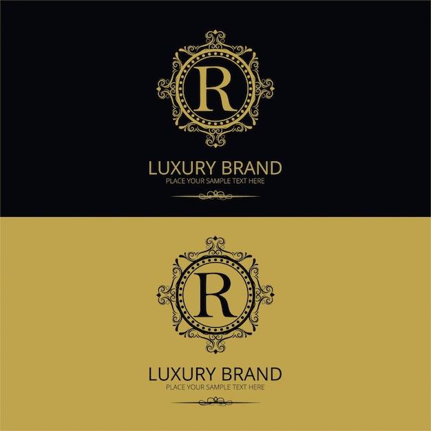 Logotipo da marca de luxo Vetor grátis