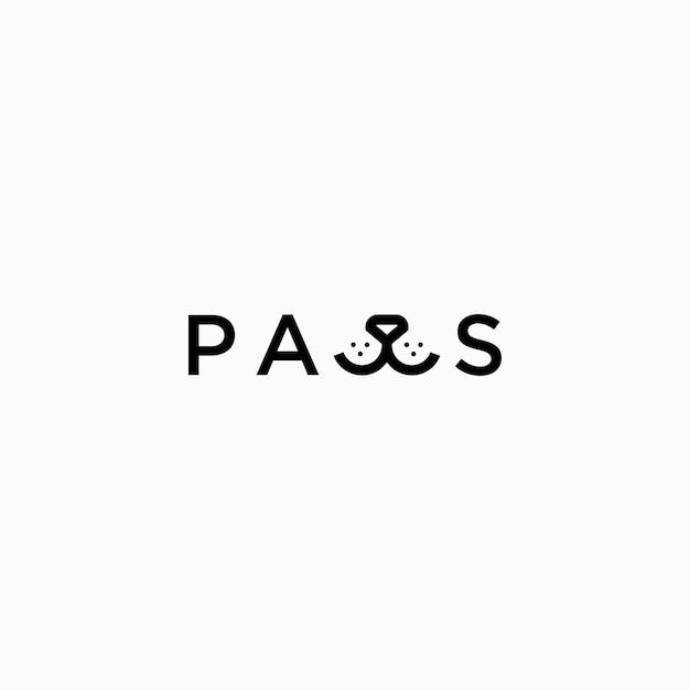 Logotipo da marca nominativa paws Vetor Premium