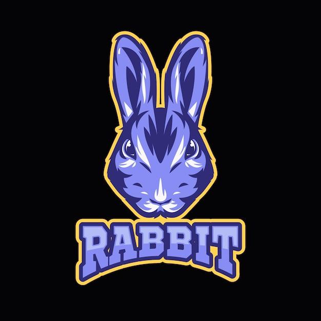 Logotipo da mascote com coelho Vetor grátis