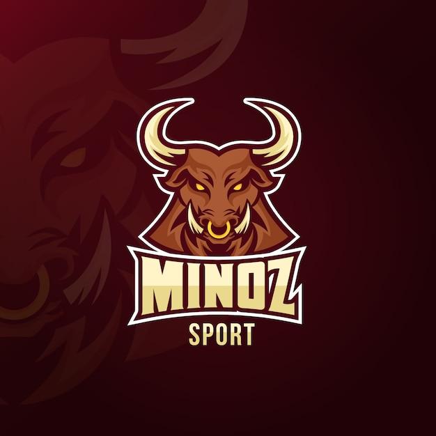Logotipo da mascote para o conceito de esporte Vetor grátis